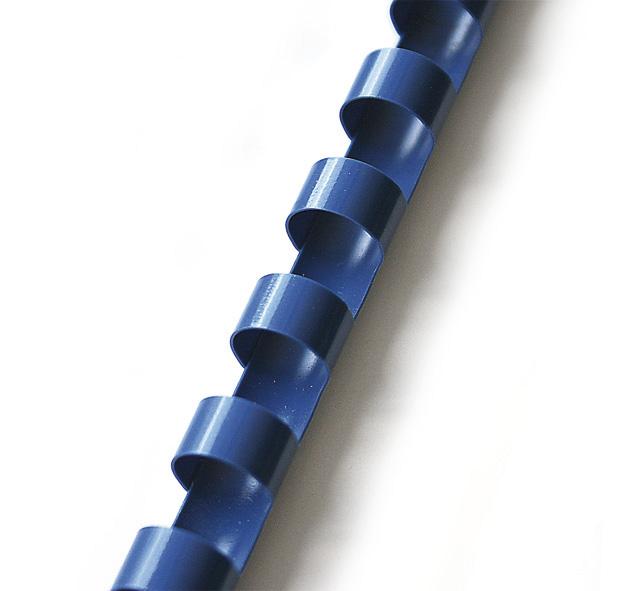 plastový hřbet 25mm modrá 50ks