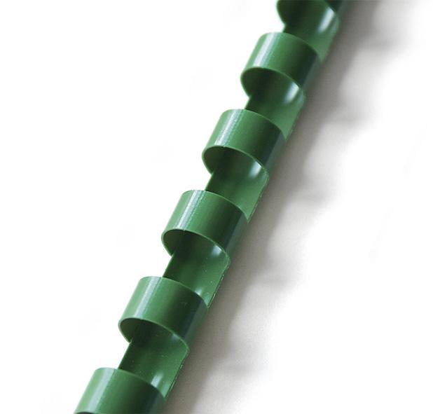 plastový hřbet 25mm zelená 50ks