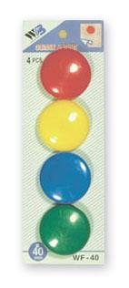sada magnetů WF mix průměr 40mm, 4ks