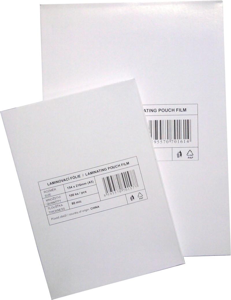 laminovací fólie Standard 111x154/080mic. 100ks