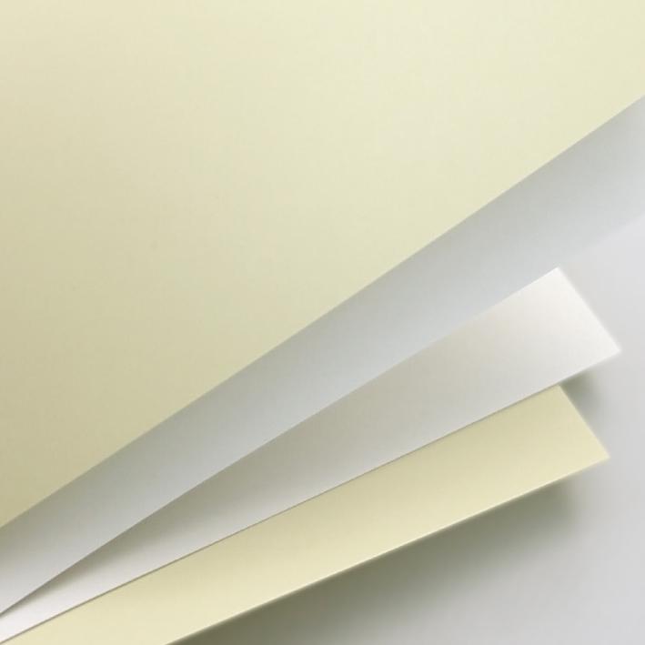 Galeria Papieru ozdobný papír Hladký bílá 250g, 20ks