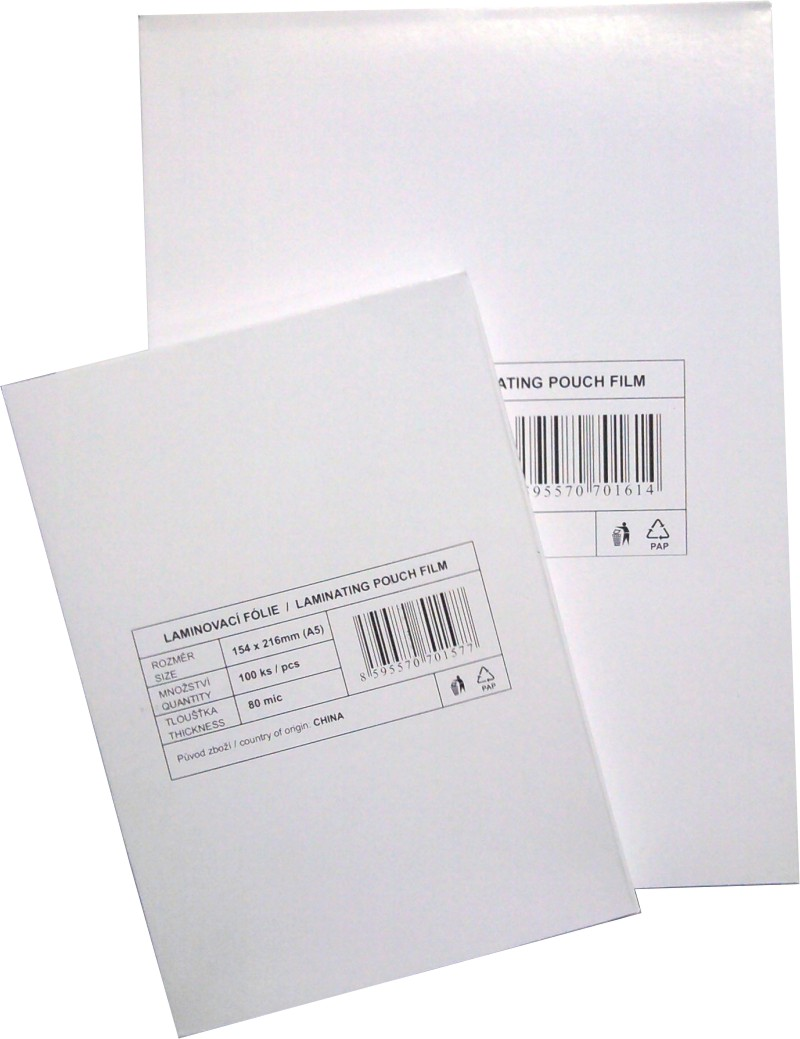 laminovací fólie Standard 75x105/080mic. 100ks