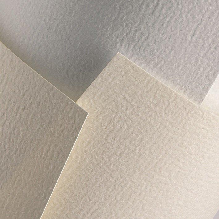 ozdobný papír Rustikal bílá 230g, 20ks