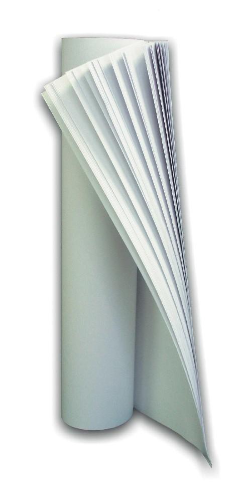 papírový blok bílý 68x95cm, 25listů, 6ks