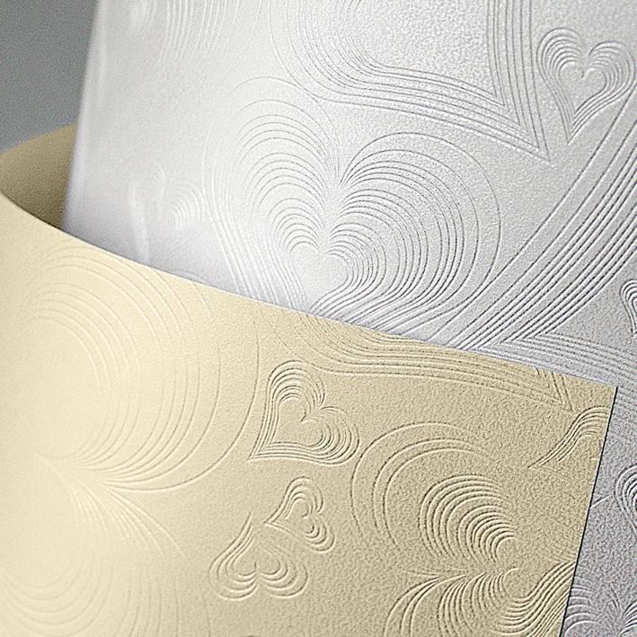 Galeria Papieru ozdobný papír Love bílá 220g, 20ks