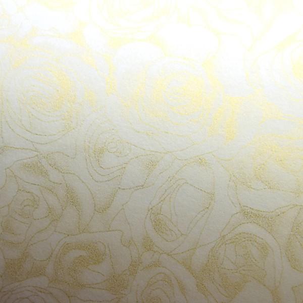 GP 100g ozdobný papír Růže ivory 50ks