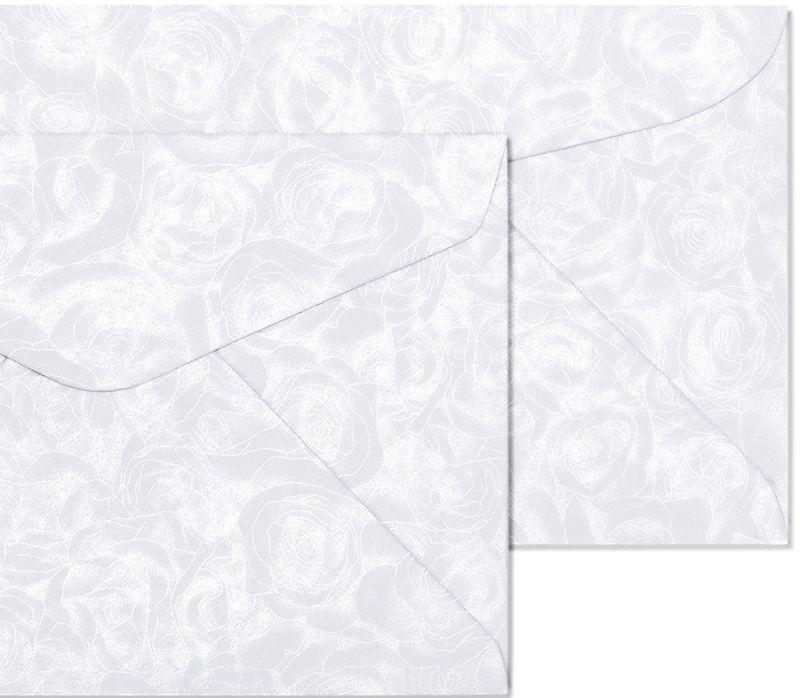 Galeria Papieru obálky B7 Růže bílá 120g, 10ks