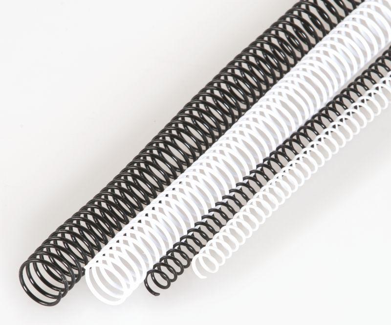 plastová spirála 20mm, černá 4:1 297mm 100ks