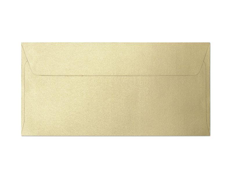 Galeria Papieru obálky DL Pearl zlatá 120g, 10ks