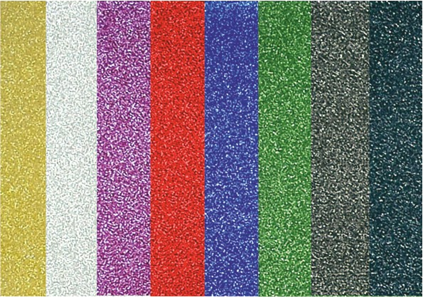 Třpytivá fólie samolepicí mix barev 150g 10ks