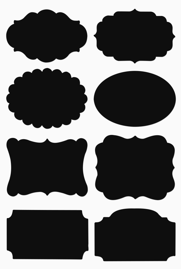 Galeria Papieru samolepky popisovací tabulové 16ks