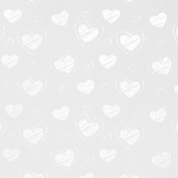 Galeria Papieru ozdobný papír Malé srdce bílá 220g, 20ks