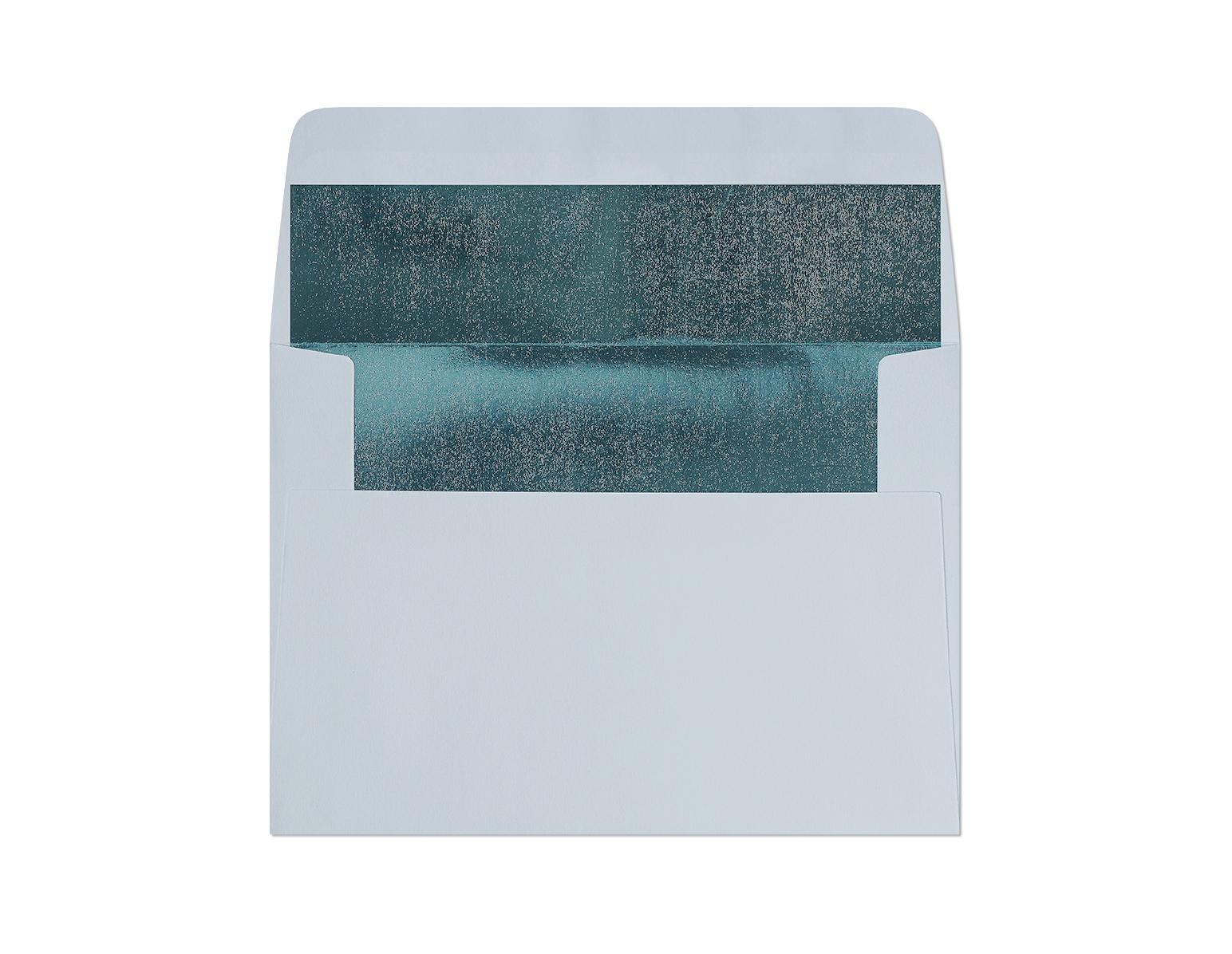 Galeria Papieru obálky C6 s metalickým vnitřkem modrá 120g, 10ks