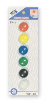 sada magnetů WF mix průměr 20 mm, 6ks