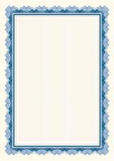 Galeria Papieru diplomy Falbala modrá 170g, 25ks